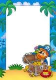 pirata ramowy skarb Obraz Royalty Free