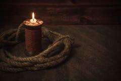 Pirata stół, kapitan kabiny wnętrze obrazy stock