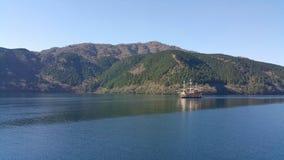 Pirata statek Crusing na Hagone jeziorze, Japonia Obrazy Royalty Free