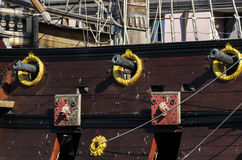 pirata statek w genui Zdjęcia Royalty Free