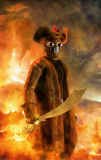 pirata steampunk ilustracja wektor