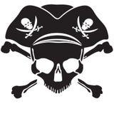 Pirata symbolu Roger Bycza czaszka Fotografia Royalty Free