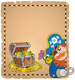 Pirata tematu pergamin 8 Obrazy Royalty Free