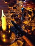 Pirata tematu stół Obrazy Royalty Free
