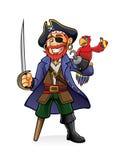 Pirata y loro Fotografía de archivo libre de regalías