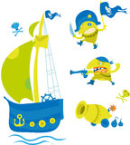 Piratas Imagem de Stock