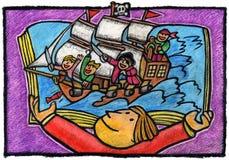 Piratas Imágenes de archivo libres de regalías