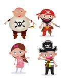 Piratas ajustados do vetor Imagens de Stock Royalty Free