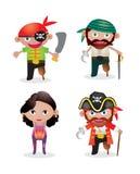 Piratas ajustados do vetor Imagem de Stock Royalty Free