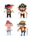 Piratas ajustados do vetor Fotos de Stock
