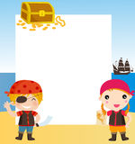 Piratas das crianças Foto de Stock Royalty Free