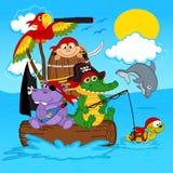 Piratas de los animales libre illustration