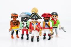 Piratas de Playmobil Imagen de archivo