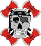 Piratas del cráneo Foto de archivo
