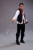 Piratas do homem da espada das caraíbas Fotos de Stock