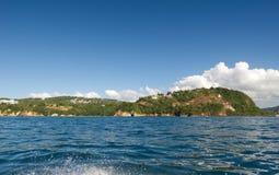 Piratas do lugar e da praia das caraíbas - St Lucia Foto de Stock