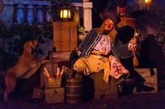 Piratas do passeio de Caraíbas imagem de stock