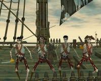 Piratas dos Undead ilustração royalty free