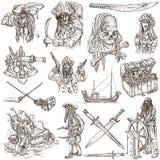 Piratas - el blanco fijó ningún 4 stock de ilustración