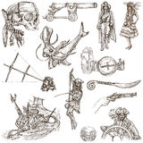 Piratas - el blanco fijó ningún 5 stock de ilustración