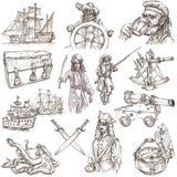 Piratas - el blanco fijó ningún 3 Foto de archivo