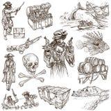 Piratas - el blanco fijó ningún 6 stock de ilustración