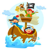 Piratas felices Fotos de archivo