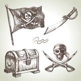 Piratas fijados Fotos de archivo libres de regalías