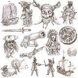 Piratas (no 2) - Una colección dibujada mano libre illustration