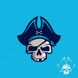 Piratas profissionais modernos do emblema para a equipa de futebol americana Foto de Stock