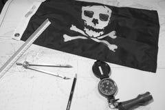 Piratas que traçam atacar Fotografia de Stock
