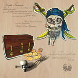Piratas - tesoro enterrado Foto de archivo libre de regalías