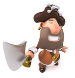 Pirate. Fun 3D pirate, ready to attack Royalty Free Stock Photos