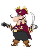 Pirate. Illustration of armed pirate with sword and pistol Royalty Free Stock Image