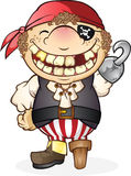Pirate. Yarg! Avast! This pirate is ready to sail the high seas and pillage and plunder Stock Images