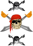 Pirate. Piracy skull and  crossed sabres Royalty Free Stock Photos