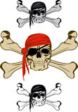 Pirate. Piracy skull and  crossed bones  image Stock Images