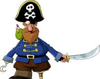 Pirate. On a white background, vector Royalty Free Stock Image