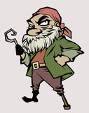 Pirate. Illustration of a pirate with a hook instead of his hand Stock Photo