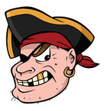 Pirate. Cartoon illustration of a pirate Stock Photography