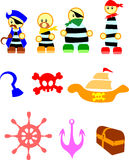 Pirate. Clip art cute cartoon royalty free illustration