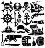 Pirate accessories. Royalty Free Stock Image