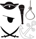 Pirate accessorise Royalty Free Stock Image