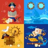 Pirate adventure set Royalty Free Stock Photos