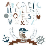 Pirate alphabet Stock Images