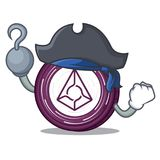 Pirate Augur coin character cartoon. Vector illustration Stock Photography