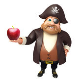 Pirate avec Apple Image libre de droits