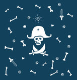 Pirate background cartoon Royalty Free Stock Photography