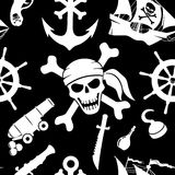 Pirate background. Royalty Free Stock Image