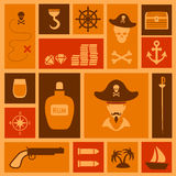 Pirate background, Royalty Free Stock Image